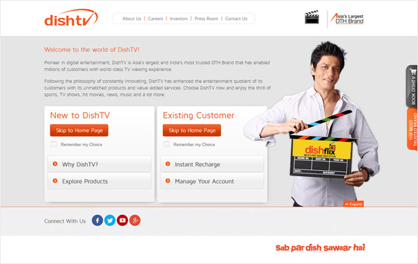 Olive has bagged the website development project for dishtv, a division of Zee Entertainment Enterprises!