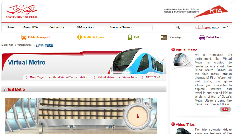 Olive Develops Virtual Transport Portal for Dubai Metro