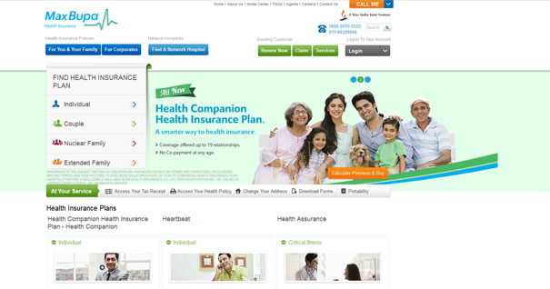 Health Insurance giant Max Bupa gets a swanky new website designed by Olive
